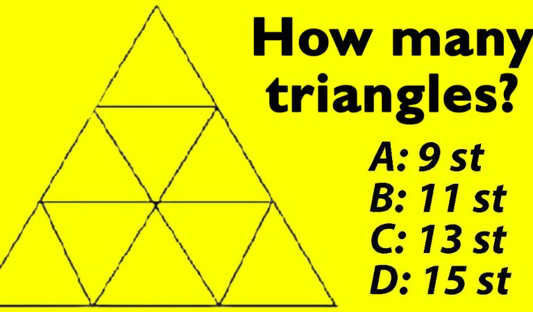 Only a few get it right – but how many triangles can you see in this picture?