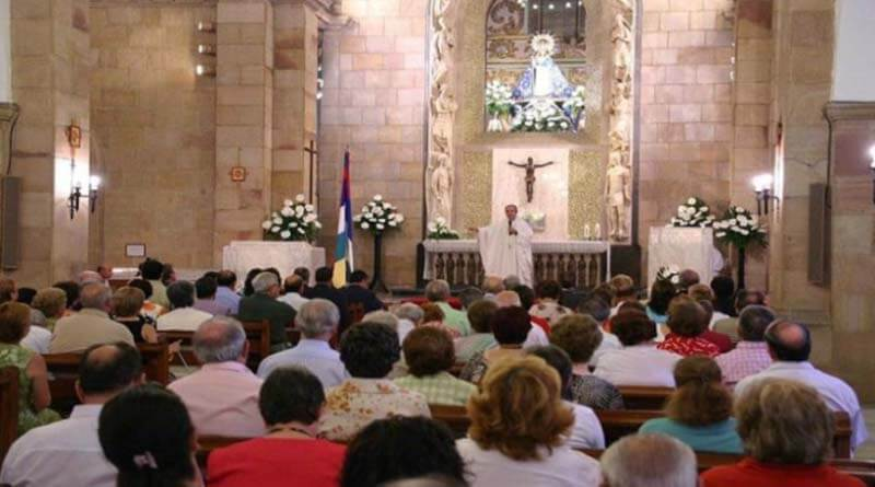 A priest farts in a mass and says it was the Holy Spirit